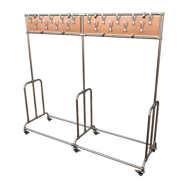 36 крючков вешалка на колесиках с нагрузкой до 80кг