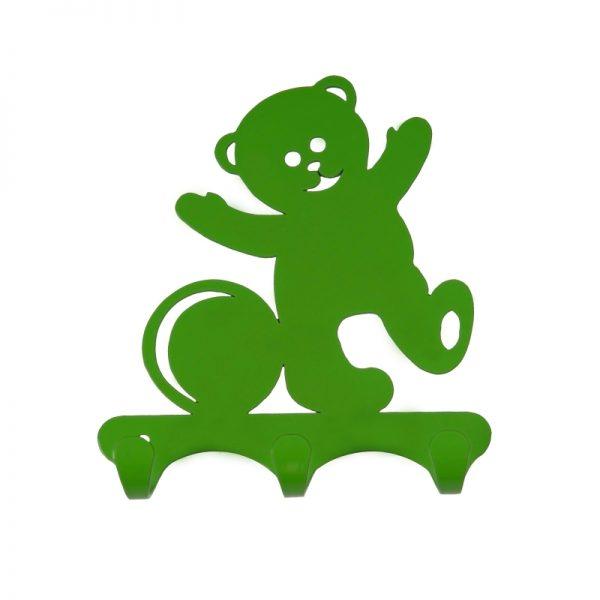 Вешалка листовая «Мишка» нагрузка до 3 кг