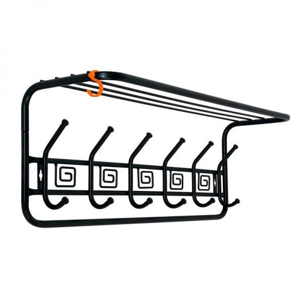 «Ажур 80» Вешалка с полкой цвет черный