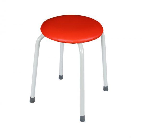 Табурет круглый «Пенёк крепкий» 220 цвет: Красный